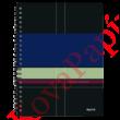 Spirálfüzet LEITZ Executive A/4 PP 80 lapos kockás