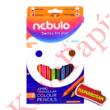 Színes ceruza NEBULO Jumbo háromszögletű 12 db/készlet