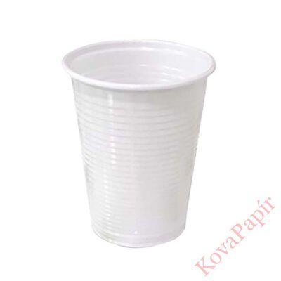 Pohár eldobható műanyag 5dl fehér 50 db/csomag