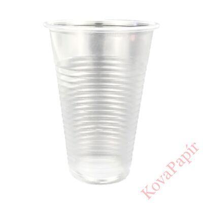 Pohár eldobható műanyag 2dl víztiszta 100 db/csomag