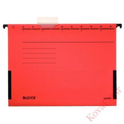 Függőmappa oldalvédelemmel LEITZ Alpha Standard A/4 karton piros 25 db/doboz