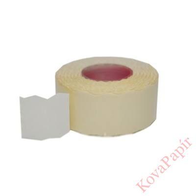 Árazószalag FORTUNA 22x16mm perforált fehér 10 tekercs/csomag