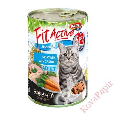 Állateledel konzerv PANZI FitActive felnőtt macskának hús-mix 415 g