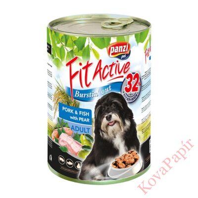 Állateledel konzerv PANZI FitActive kutyának sertéshússal és hallal 1240 g