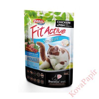 Állateledel száraz PANZI FitActive Sensitive felnőtt macskáknak 300 g