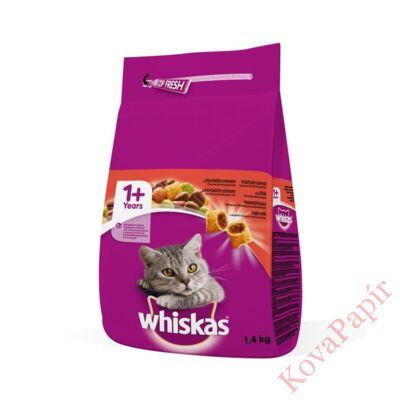 Állateledel száraz WHISKAS macskáknak marhahússal 1,4kg