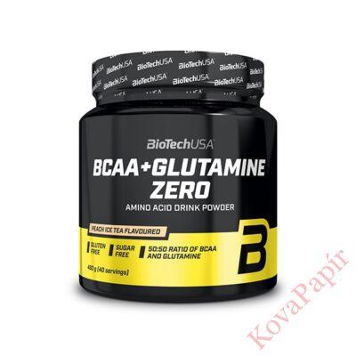 Aminosav BIOTECHUSA BCAA+Glutamine Zero Barack-IceTea 480 g