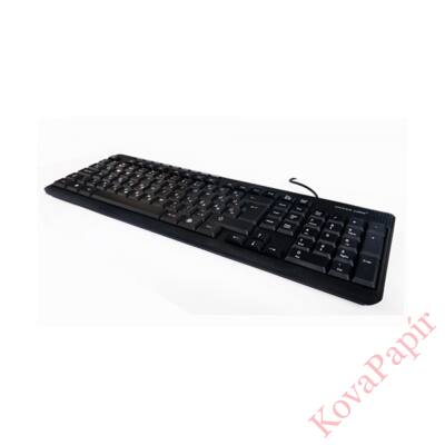 Billentyűzet SILVERLINE KB-MM818 USB fekete