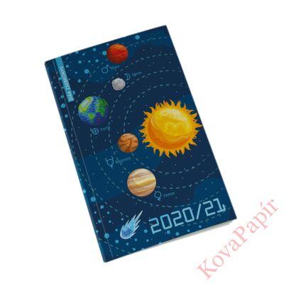 Diák zsebkönyv REALSYSTEM papírborító 125x205mm space 2020-2021