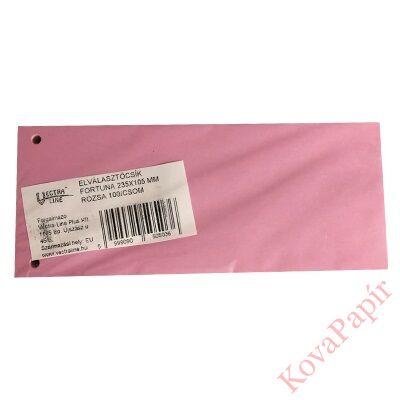 Elválasztócsík FORTUNA 105x235mm rózsa 100 db/csomag