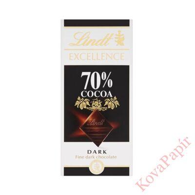 Étcsokoládé táblás LINDT Excellence 70%-os kakaótartalom 100g