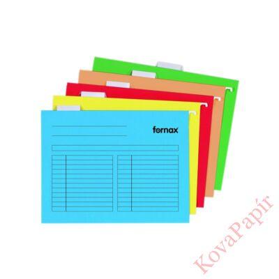 Függőmappa FORNAX A/4 kék 5 db/csomag