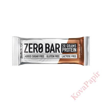 Fehérje BIOTECHUSA Zero Bar Dupla csokoládé 50 g