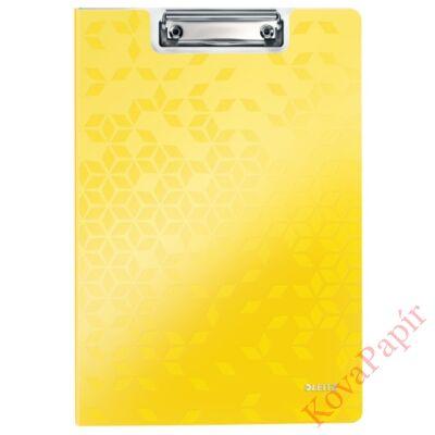 Felírótábla LEITZ Wow A/4 kemény műanyag fedeles sárga