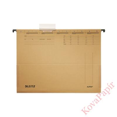 Függőmappa oldalvédelemmel LEITZ Alpha Standard A/4 karton natúr 25 db/doboz