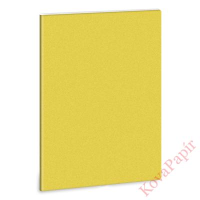 Füzet ARS UNA A/4 40 lapos Extra kapcsos sima glitter sárga