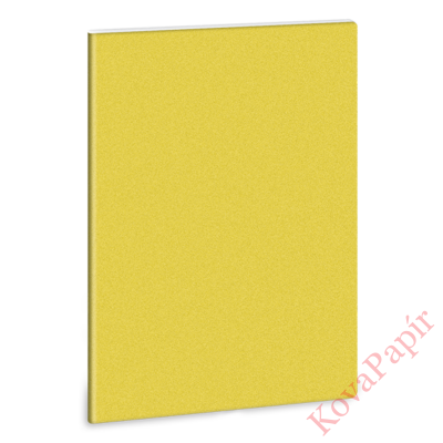 Füzet ARS UNA A/4 40 lapos Extra kapcsos vonalas glitter sárga