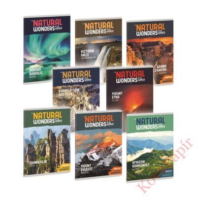 Füzet ARS UNA A/5 40 lapos Extra kapcsos kockás Natural Wonders