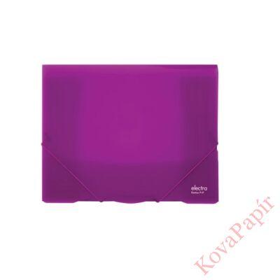 Gumis mappa ELECTRA A/4 műanyag lila