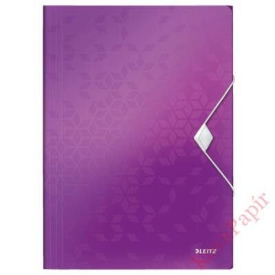 Gumis mappa LEITZ Wow A/4 műanyag lila