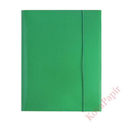 Gumismappa OPTIMA A/4 zöld 400gr