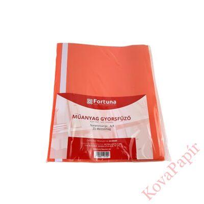 Gyorsfűző FORTUNA műanyag narancssárga 25 db/csomag