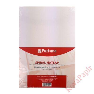 Hátlap FORTUNA A/4 230g matt bőrhatású fehér 100/dob