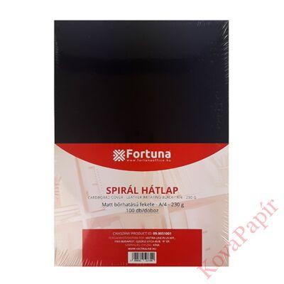 Hátlap FORTUNA A/4 230g matt bőrhatású fekete 100/dob