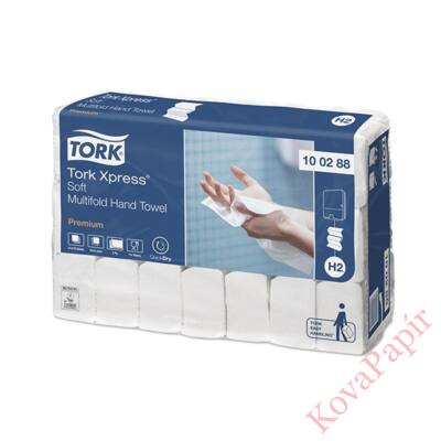 Kéztörlő TORK Xpress Soft Multifold Premium H2 hajtogatású 2 rétegű fehér