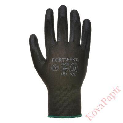 Kesztyű munkavédelmi (szerelő) 9-es fekete színű tenyéren mártott