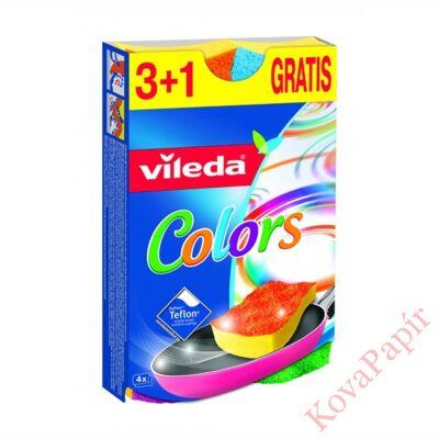 Mosogatószivacs VILEDA Pur Active színes 4 db