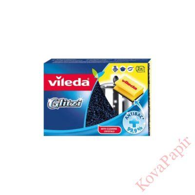 Mosogatószivacs antibakteriális VILEDA Glitzi formázott dörzsi 2 db-os