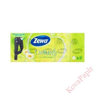 Papírzsebkendő ZEWA Delux 3 rétegű 10x10 db-os Camomile