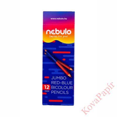 Postairón NEBULO Jumbo háromszögletű piros-kék
