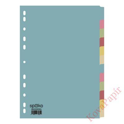 Regiszter SPOKO A/4 karton 12 részes 2x6 szín