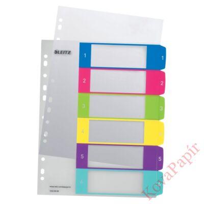 Regiszter LEITZ Wow műanyag nyomtatható extra széles 1-6