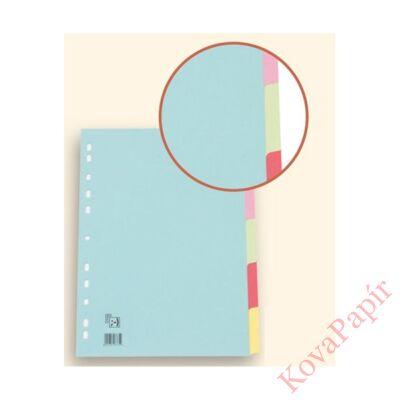 Regiszter SPOKO A/4 karton színes 5 részes