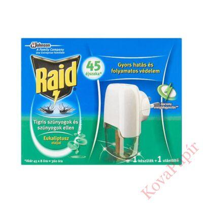 Rovarírtó elektromos készülék szúnyogirtó RAID eukaliptusz olajjal 27ml