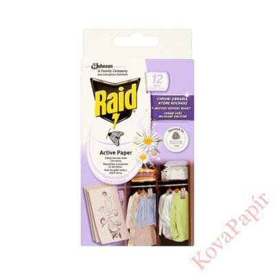 Rovarírtó molyirtó lap RAID Active 12db-os friss virág