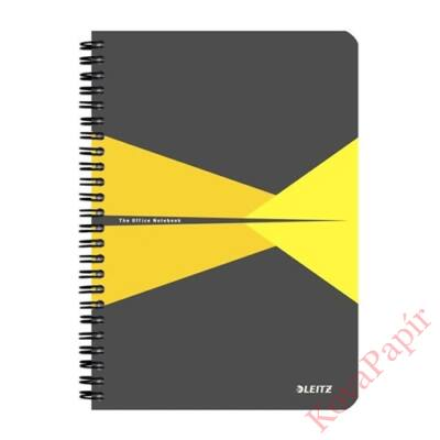 Spirálfüzet LEITZ Office A/5 karton borítóval 90 lapos vonalas sárga