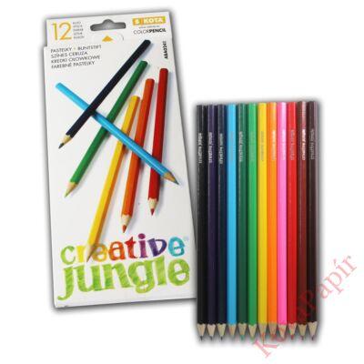 Színes ceruza CREATIV JUNGLE hatszögletű 12db-os
