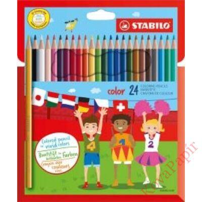 Színes ceruza STABILO Color Swano hatszögletű 24 db/készlet