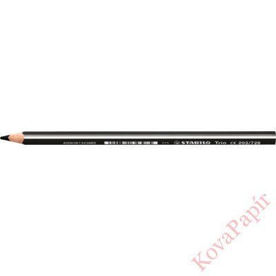 Színes ceruza STABILO Trio Thick háromszögletű vastag fekete