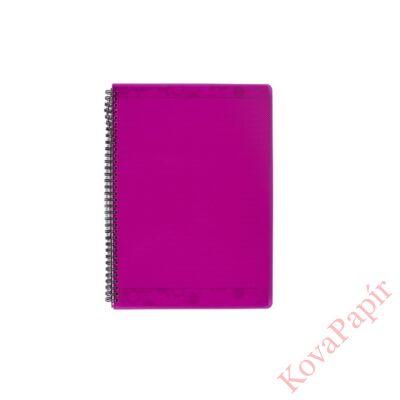 Spirálfüzet ELECTRA A/4 PP borító 70 lapos pink