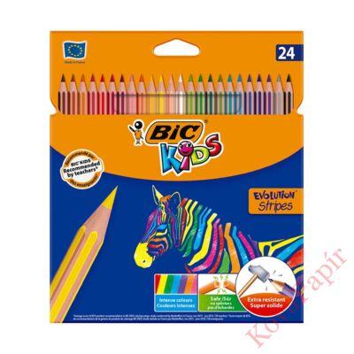 Színes ceruza BIC Kids Evolution hatszögletű környezetbarát 24 db/készlet