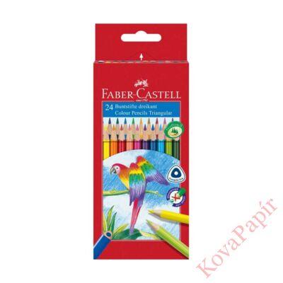 Színes ceruza FABER-CASTELL 1165 Papagáj háromszögletű 24 db/készlet