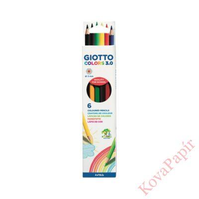Színes ceruza GIOTTO Colors 3.0 hatszögletű 6 db/készlet