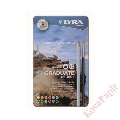 Színes ceruza LYRA Graduate Aquarell hatszögletű fémdoboz 12 db/készlet
