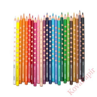 Színes ceruza LYRA Groove Slim háromszögletű vékony ciklámen