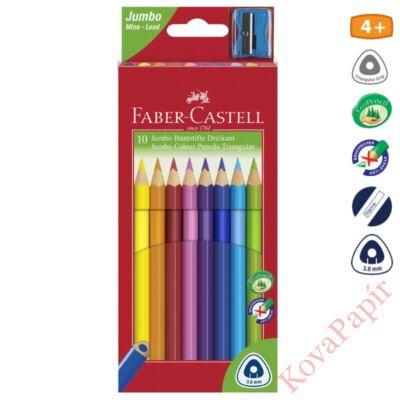 Színes ceruza FABER-CASTELL Junior háromszögletű 10 db/készlet